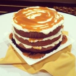 Caramel Macchiato Vintage Wedding Cake