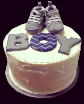 White Babyshower Cake